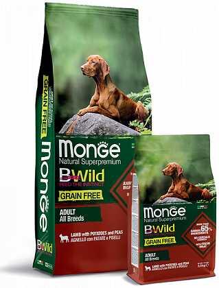 Monge (Монж) BWild Grain Free All Breeds Adult Lamb