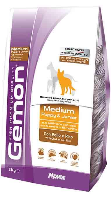 Сухой корм Gemon Medium Puppy