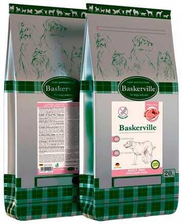 Сухой корм Baskerville Grain Free Adult Beef
