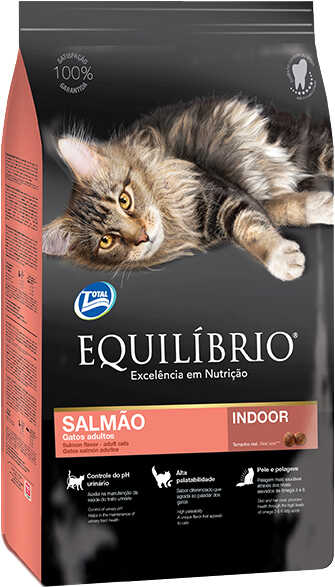 Сухой корм Equilibrio Cat Adult Salmon Indoor