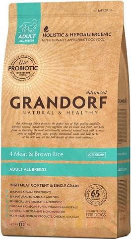 Сухой корм Grandorf Living Probiotics 4 Meat & Brown Rice All breeds