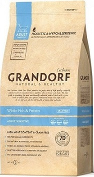 Сухой корм Grandorf White fish & Potato Adult Sensitive Cat