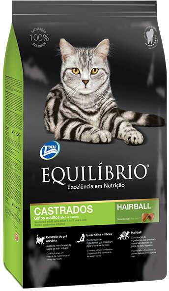 Сухой корм Equilibrio Cat Adult Castrados Hairball