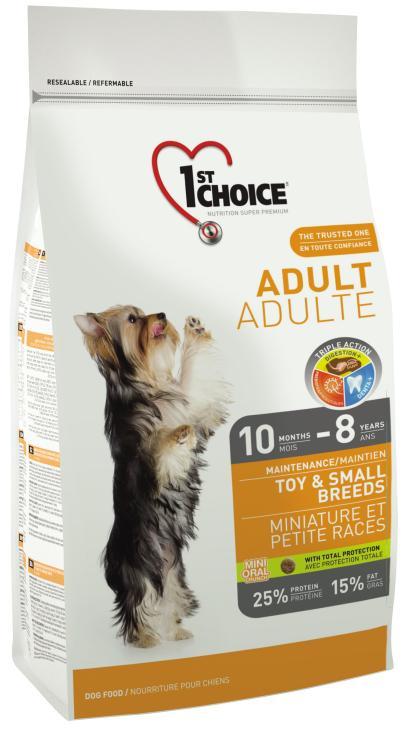 Cухой корм 1st Choice Adult Dog Toy & Small Breeds Chicken