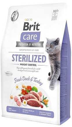 Беззерновой корм для стерилизованных кошек Brit Care Cat Grain Free Sterilized & Weight Control