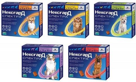 НексГардСпектра от блох и клещей для собак купить