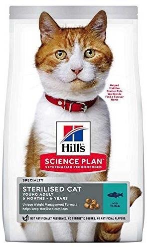 Корм для кастрированных котов Hills (Хиллс) Young Sterilised Adult Tuna купить