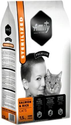 Сухой корм Amity Cat Sterilized Salmon & Rice