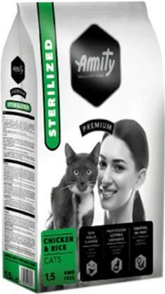 Сухой корм Amity Cat Sterilized Chicken & Rice