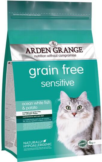 Сухой корм Arden Grange (Арден Гранж) Adult Sensitive Ocean White Fish & Potato