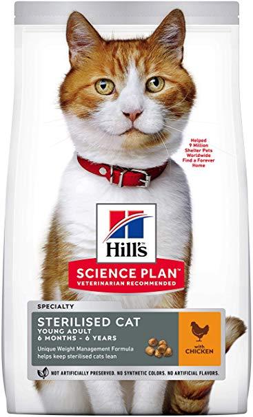 Корм для стерилизованных кошек Hills (Хиллс) Young Sterilised Adult Chicken купить