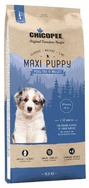 Сухой корм Chicopee CNL Maxi Puppy Poultry & Millet