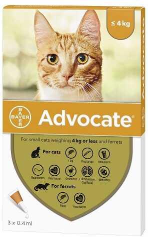 Противопаразитарные капли для котят и кошек от блох