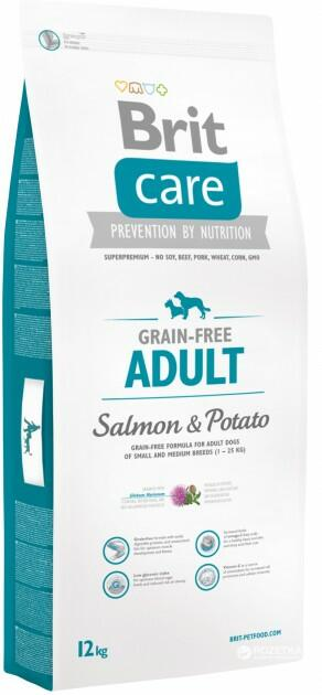 Сухой корм Brit Care (Брит Кеа) Grain Free Adult Salmon & Potato