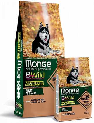Monge (Монж) BWild Grain Free All Breeds Adult Salmon