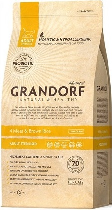 Сухой корм Grandorf Living Probiotics 4 Meat & Brown Rice Sterelized
