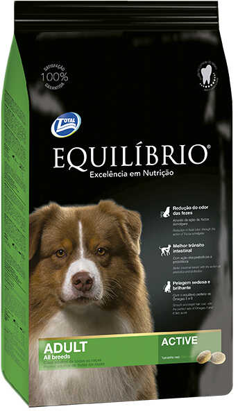 Сухой корм Equilibrio Dog Adult All Breeds Active