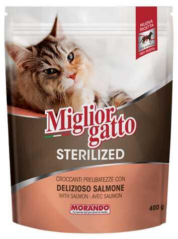 Сухой корм Morando MigliorGatto Sterilized Salmon