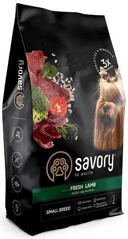 Cухой корм Savory Adult Small Breed Fresh Lamb