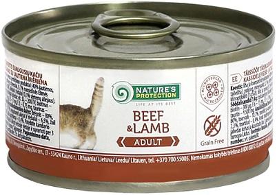 Nature s Protection Adult Beef & Lamb консервы для кошек купить