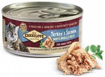 Беззерновые консервы Carnilove Turkey & Salmon для кошек купить
