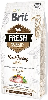 Сухой корм Brit Fresh (Брит Фреш) Light Fit Turkey & Pea