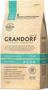 Сухой корм Grandorf Living Probiotics 4 Meat & Brown Rice Adult Indoor Cat